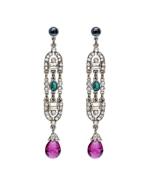 Ben-Amun - Multicolor Velvet Glamour Deco Drop Earrings - Lyst