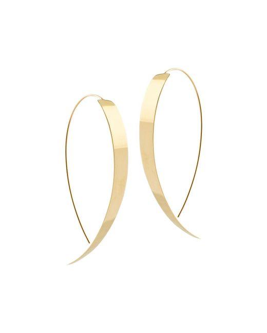 Lana Jewelry - Metallic Vanity Hooked On Hoop Thread-through Earrings - Lyst