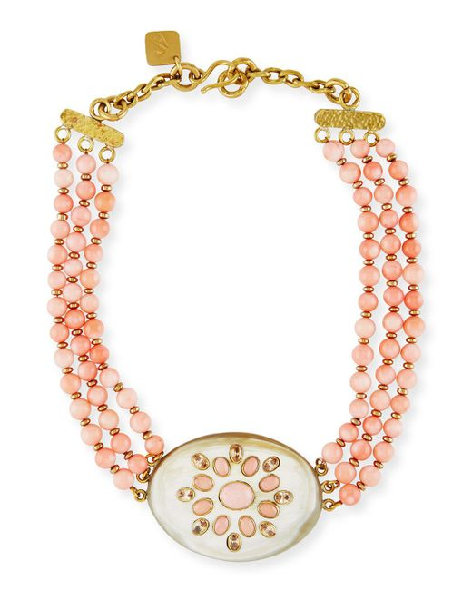 Ashley Pittman | Pink Bendi Beaded Coral Necklace | Lyst