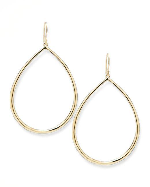 Ippolita - Metallic Wire Teardrop Hoop Earrings - Lyst