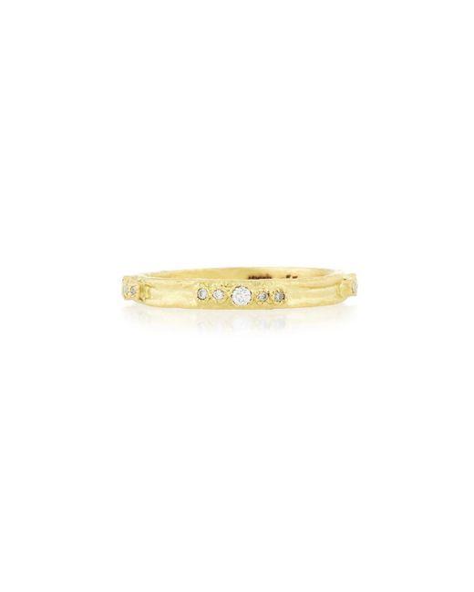 Armenta - Metallic Sueño 18k Gold Diamond Stacking Ring - Lyst