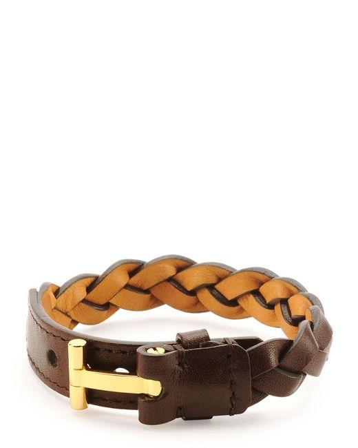 Tom Ford | Brown Nashville Men's Braided Leather Bracelet for Men | Lyst