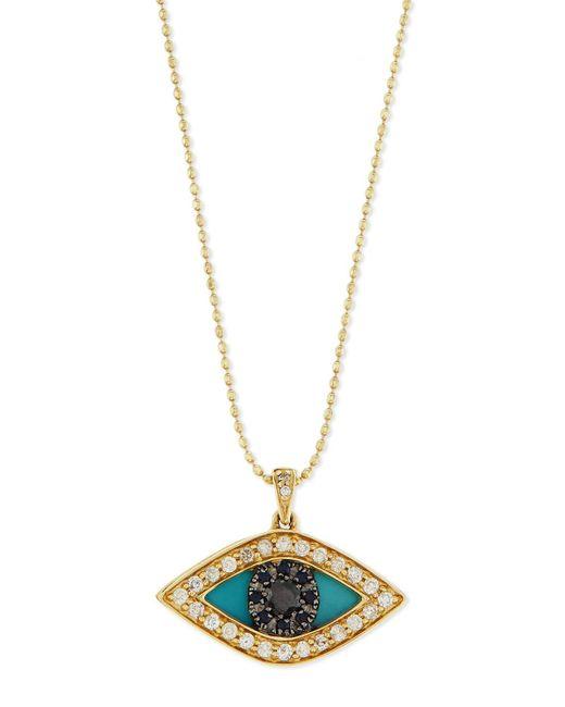 Sydney Evan | Metallic Diamond Evil Eye Swivel Pendant Necklace | Lyst