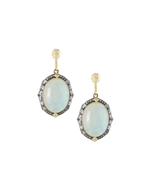 Armenta - Metallic Old World Triplet Oval Drop Earrings - Lyst
