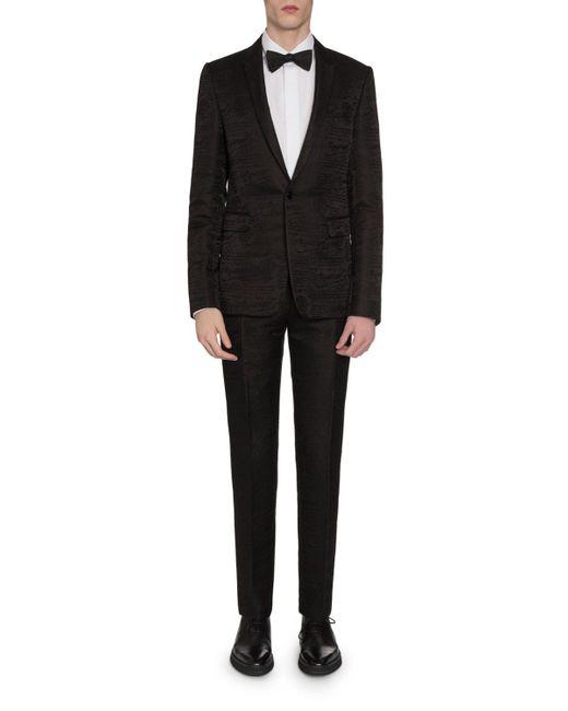 Berluti Black Men's Tonal Scritto Jacquard One-button Jacket for men