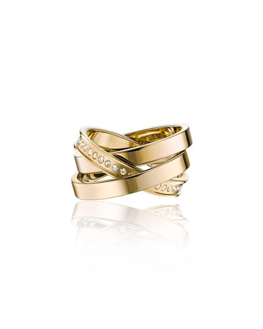 Vita Fede - Metallic Cassio Pavé Crystal Ring Set - Lyst