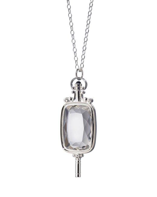 Monica Rich Kosann   Metallic Silver Pocketwatch Key Necklace   Lyst