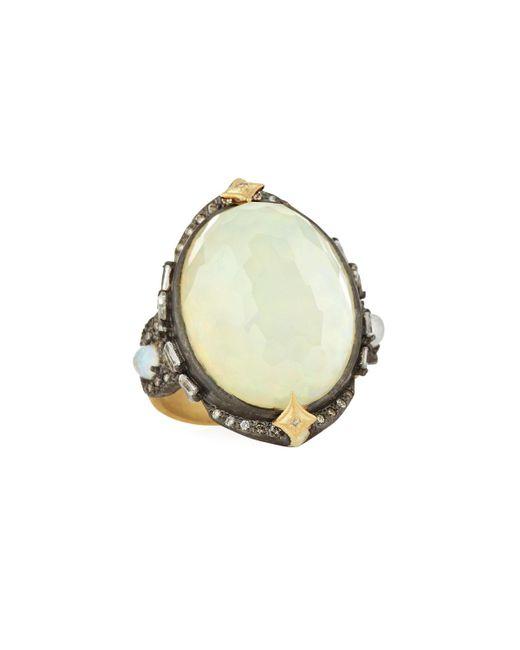 Armenta - Multicolor Old World Oval Opal Triplet Ring W/ Diamonds - Lyst