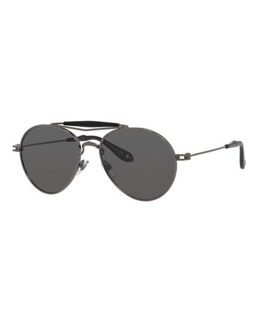 Givenchy - Gray Metal Polarized Aviator Sunglasses - Lyst