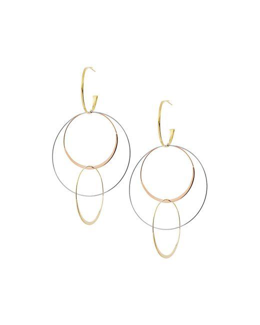 Lana Jewelry - Metallic Large Flat Bond Link Hoop Earrings In 14k Tricolor Gold - Lyst