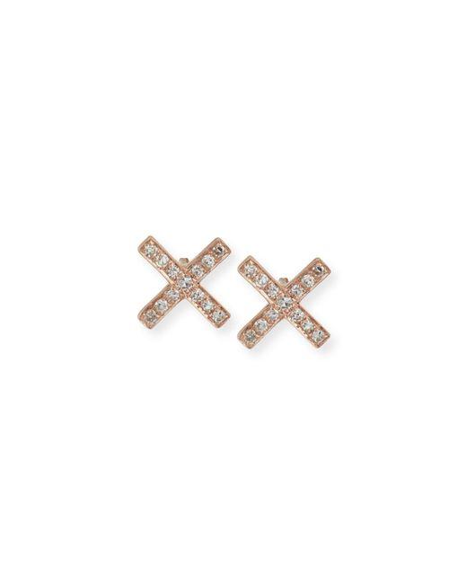 EF Collection - Metallic Diamond X Stud Earring Pair - Lyst