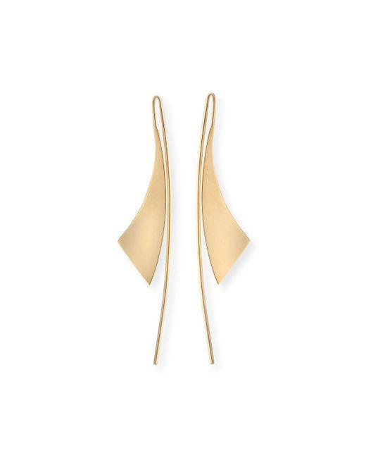 Lana Jewelry - Metallic Small Gloss 14k Gold Hoop Earrings - Lyst
