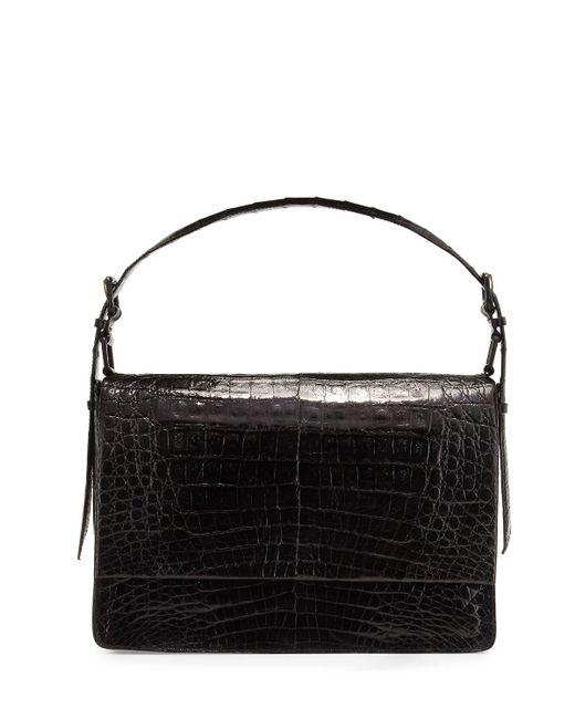 Nancy Gonzalez - Black Crocodile New Flap Satchel Bag - Lyst