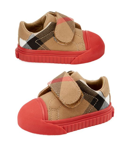 Burberry - Natural Beech Check Sneaker for Men - Lyst
