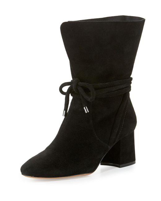 Alexandre Birman - Black Suede 70mm Ankle-tie Boots - Lyst