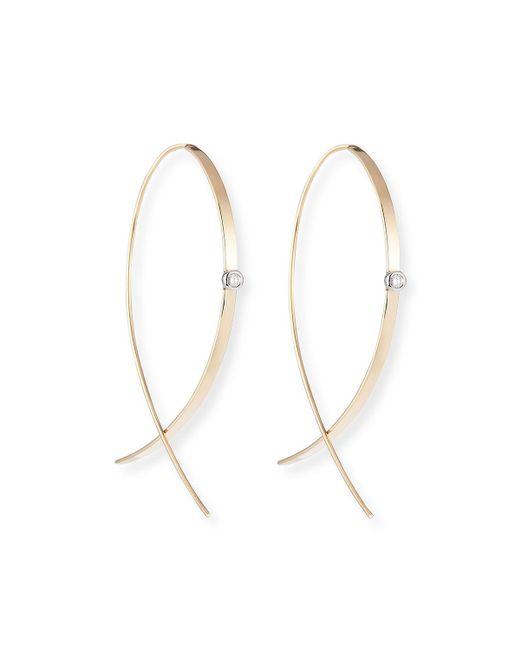 Lana Jewelry - Metallic Small Flat Diamond Hoop Earrings - Lyst