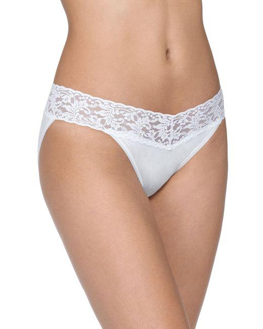 Hanky Panky - Multicolor Signature Lace Organic Cotton V-kini Panties - Lyst