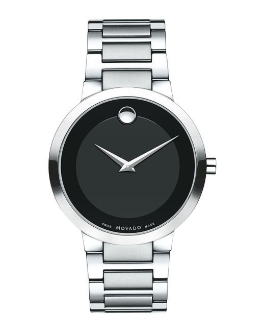 Movado | Black 39.2mm Modern Classic Watch for Men | Lyst
