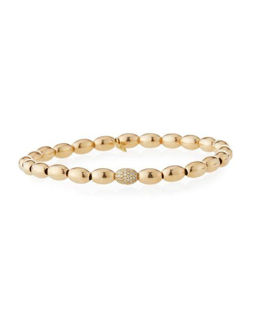 Sydney Evan - Metallic 14k Gold & Diamond Bead Bracelet - Lyst