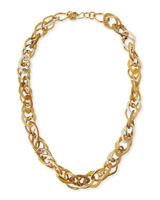 Ashley Pittman | Metallic Kamba Necklace Light Horn | Lyst