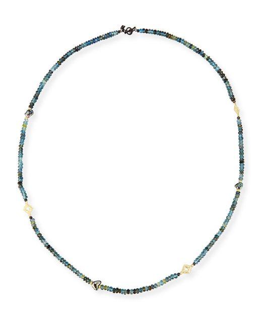 Armenta - Metallic Old World Beaded Aquamarine & Keshi Pearl Necklace - Lyst
