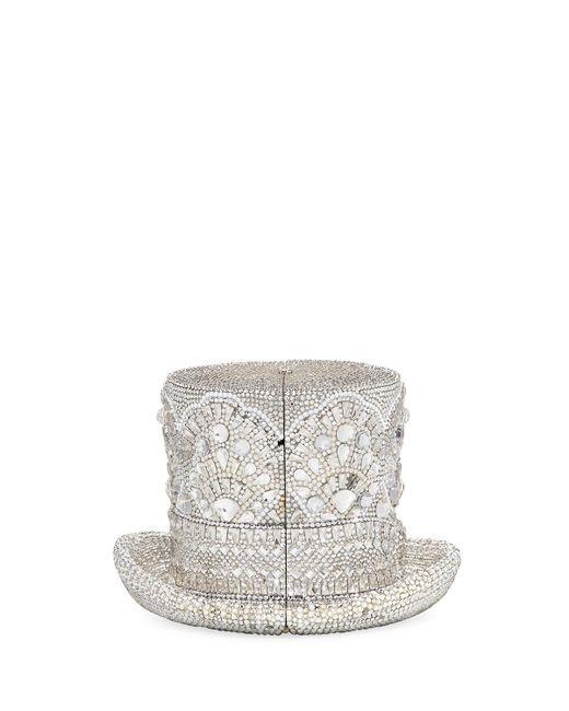 Judith Leiber Couture | Metallic Abracadabra Crystal Top Hat Minaudiere | Lyst