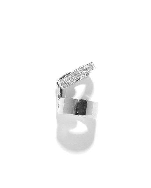 Repossi - Metallic Single Berbère Double-cuff Earring With Diamonds - Lyst