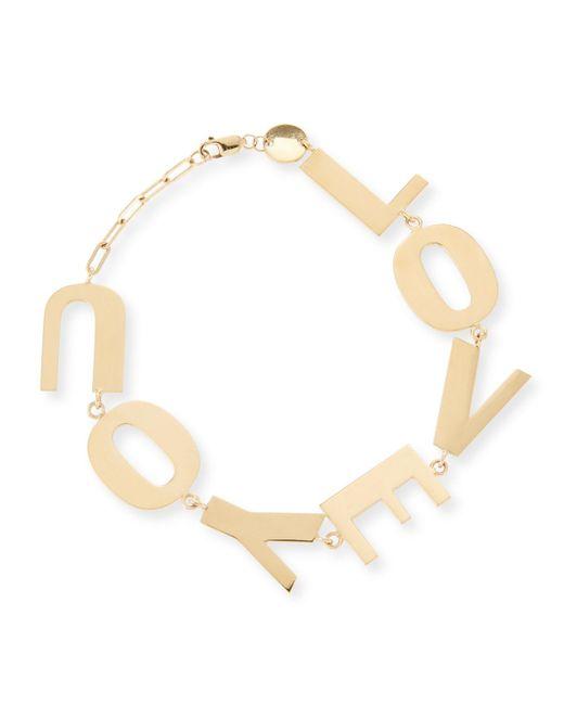 Jennifer Zeuner - Metallic Love You Bracelet In 18k Gold Plate - Lyst