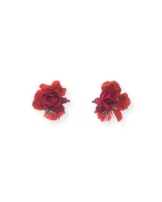 Ranjana Khan - Red Scarlet Rose Stud Earrings - Lyst