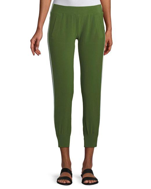Norma Kamali - Green Side-stripe Jogger Pants - Lyst