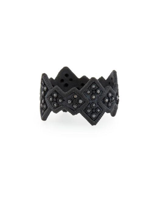 Armenta   Midnight Cravelli Black Diamond Wide Ring   Lyst