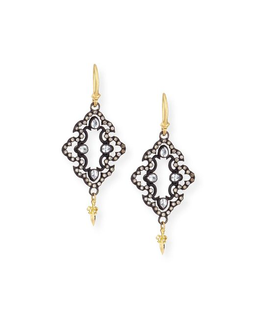 Armenta - Metallic Open Scroll Diamond Drop Earrings - Lyst
