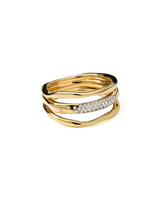 Ippolita | Metallic 18k Gold Stardust Squiggle Ring With Diamonds | Lyst