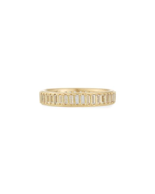 Armenta - Metallic Old World Sueno White Sapphire Baguette Band Ring - Lyst