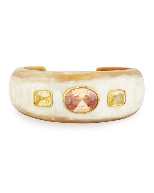 Ashley Pittman | Metallic Uhuni Light Horn & Crystal Cuff Bracelet | Lyst