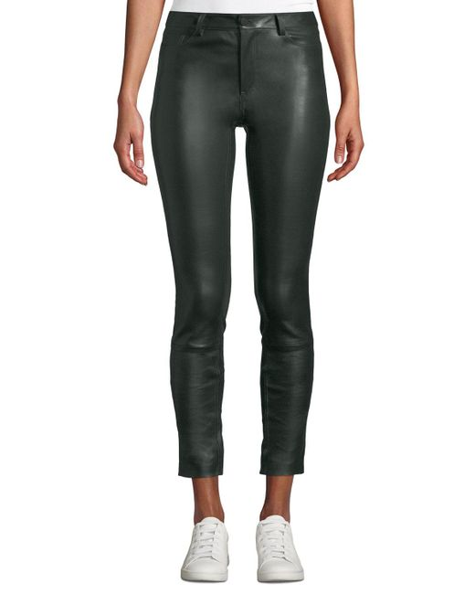 Theory - Black Bristol Skinny Leather Pants - Lyst