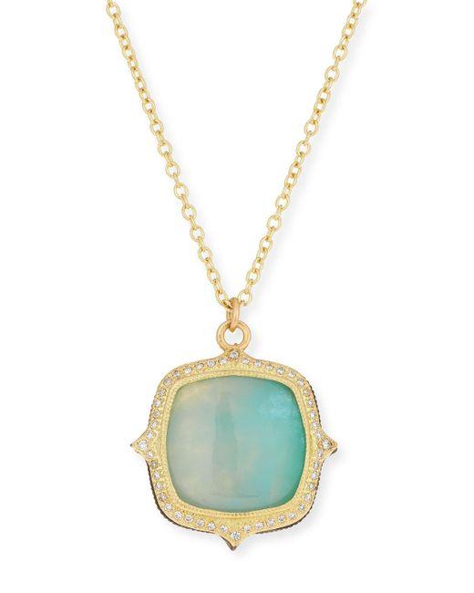 Armenta - Multicolor Old World 18k Aquaprase Pendant Necklace - Lyst