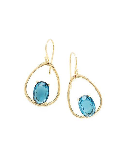 Ippolita - 18k Rock Candy Wire Earrings In London Blue Topaz - Lyst