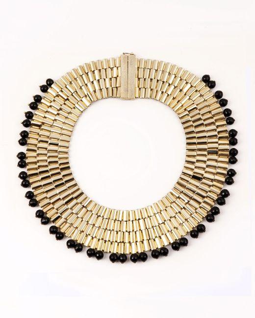 Rosantica | Metallic Cleopatra Beaded Collar Necklace | Lyst