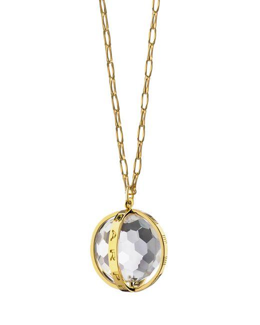 "Monica Rich Kosann - Metallic 18k Carpe Diem Rock Crystal Charm Necklace On 30"" Delicate Chain - Lyst"