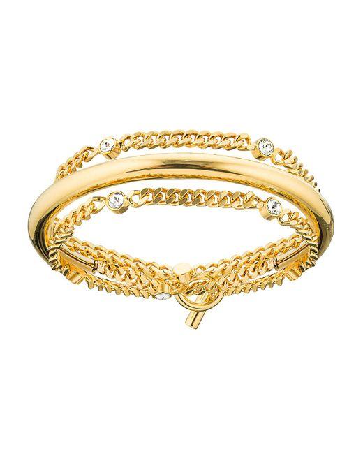 Vita Fede - Metallic Luna Crystal Chain Wrap Bracelet - Lyst