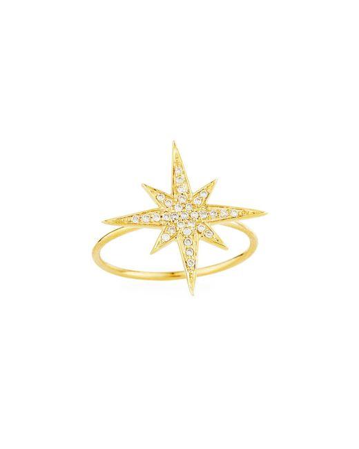 Sydney Evan - Metallic Medium 14k Yellow Gold Diamond Starburst Ring - Lyst