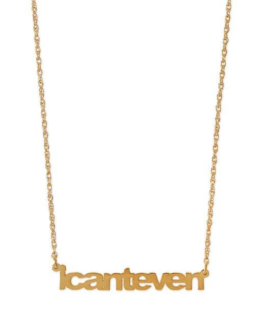 Jennifer Zeuner - Metallic I Can't Even Pendant Necklace - Lyst