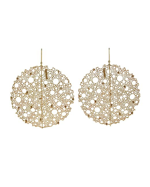 Ted Muehling | Metallic Yellow Gold Queen Anne's Lace Earrings | Lyst