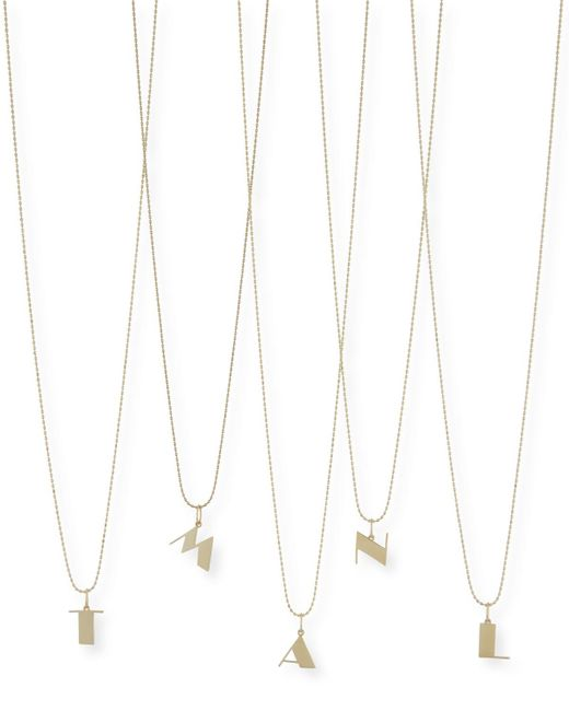 Sydney Evan   Metallic Pure Initial Charm Necklace   Lyst