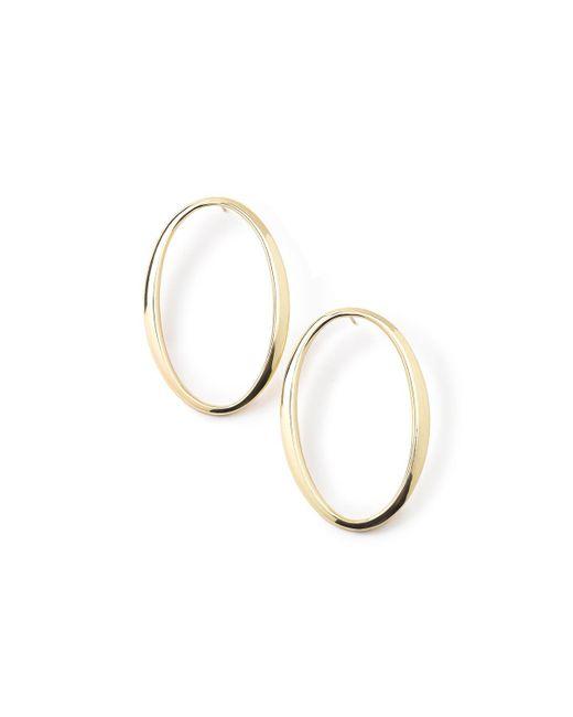 Ippolita | Metallic 18k Glamazon Tall Oval Sculpted Hoop Earrings | Lyst
