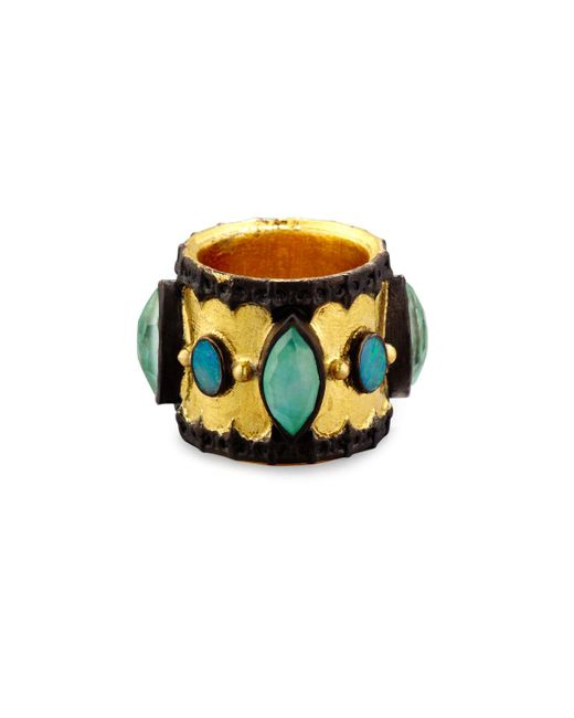 Armenta | Multicolor Old World Midnight Scalloped Cigar Ring With Boulder Opals | Lyst