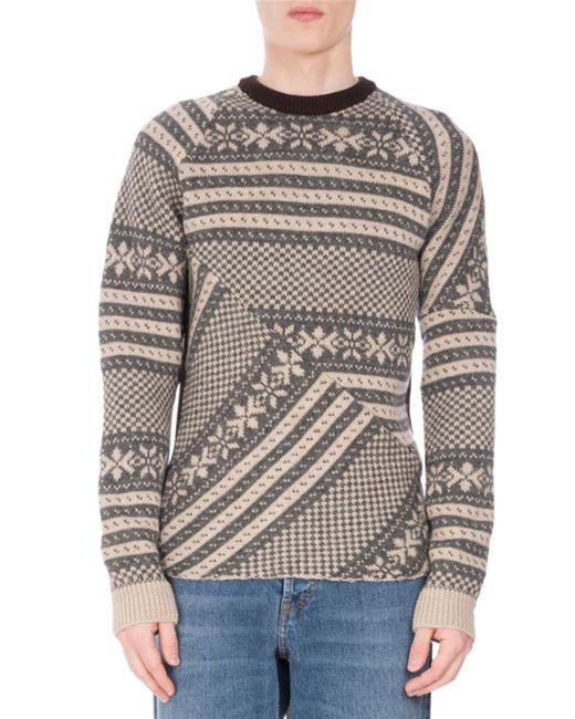 Dries Van Noten - Multicolor Tacos Geometric Snowflake Sweater for Men - Lyst