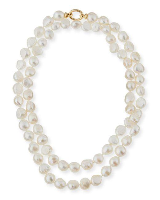 Grazia And Marica Vozza - White Baroque Pearl Necklace - Lyst