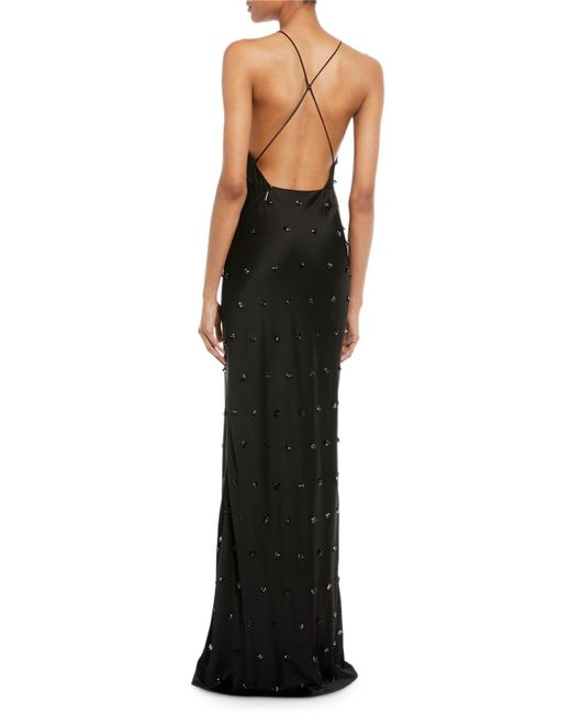Lyst - Jason Wu Crepe-back Satin Embellished Column Evening Gown in ...